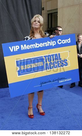 Jessica Simpson launches the Blockbuster Total Access held at the Kodak Theatre in Hollywood, USA on November 2, 2006.
