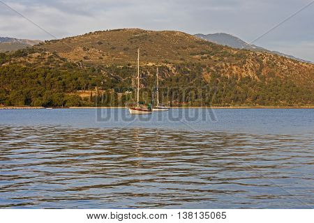 A view of the bay of Argostoli in Kefalonia, Greece