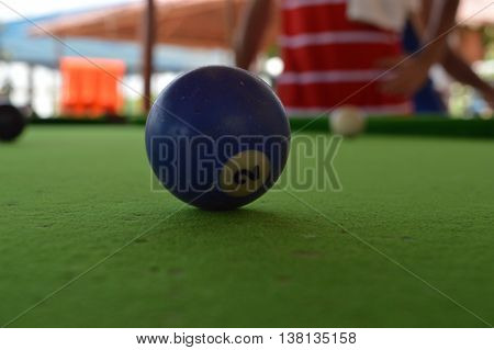 Number 2 ball on snooker table in Karachi