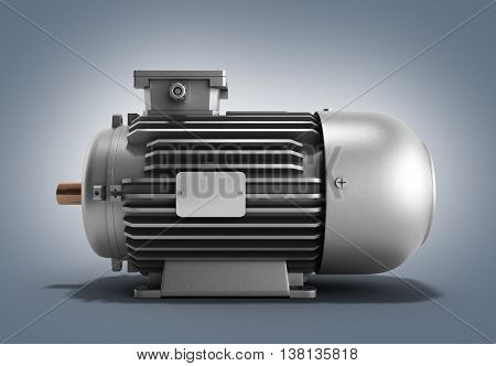 Electric Motor Generator 3D Render On A Gradient Background