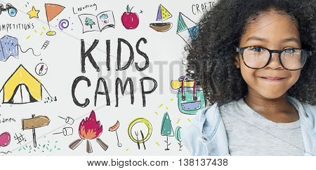 Summer Kids Camp Adventure Explore Concept