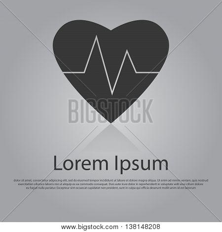 Vector Icon Of Heart Cardiology Concept