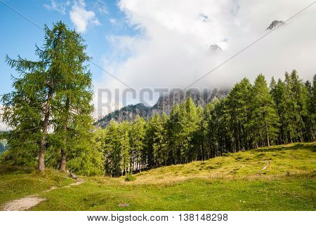 Mountain Peaks In Slovenian Alps