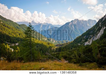 Beautiful Soca Valley In Slovenian Alps