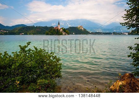 View On Still Lake Bled, Slovenia