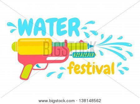 Vector logo for water festival in Thailand