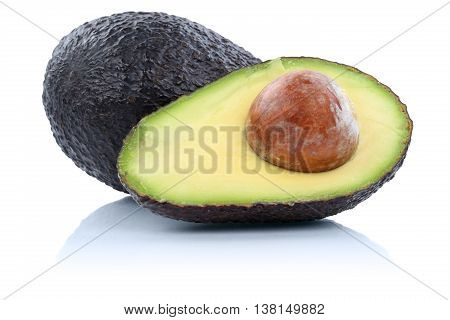 Avocado Avocados Fruit Fruits Isolated On White