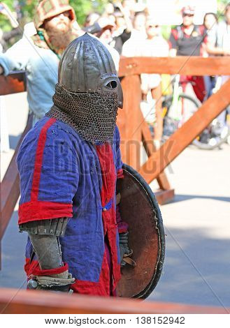 The Medieval Knight Before A Battle