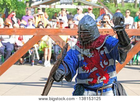 Medieval Knight In Battle