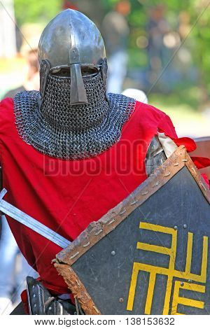 Medieval Knight In Battle Close Up
