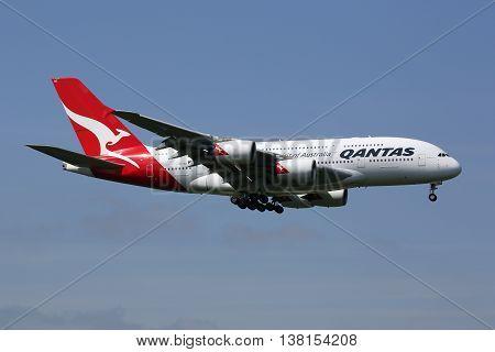 Qantas Airbus A380 Airplane