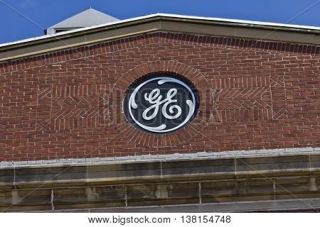 Ft. Wayne IN - Circa July 2016: General Electric Factory. GE is the world's Digital Industrial Company IX