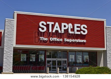 Ft. Wayne IN - Circa July 2016: Staples Inc. Retail Location. Staples is a Large Office Supply Chain III