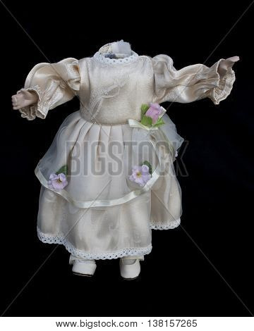 Haunted Doll Body in White Wedding Dress