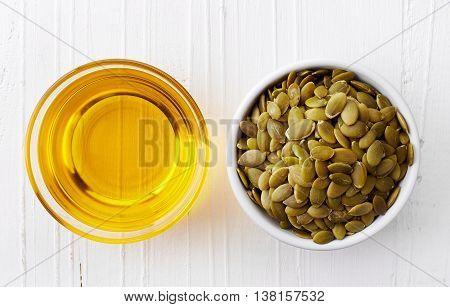 Pumpkin Seed Oil And Pumpkin Seeds