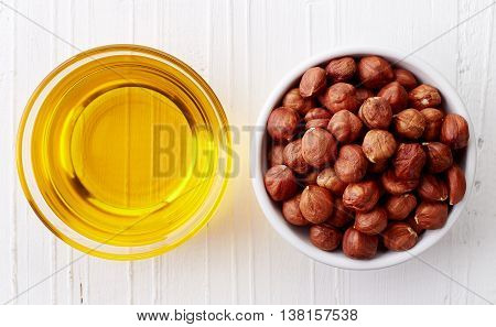 Hazelnut Oil And Hazelnuts