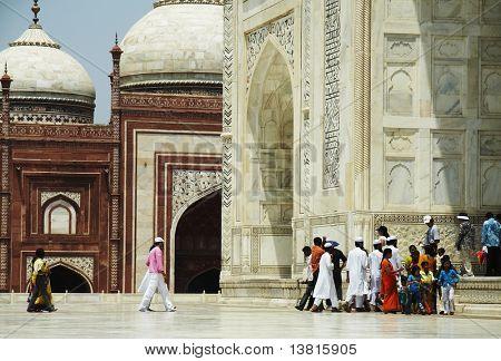 Indian people in Taj Mahal palace