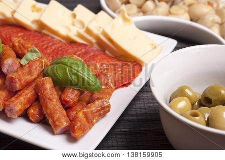Salami, Kabanos, Cheese Starters