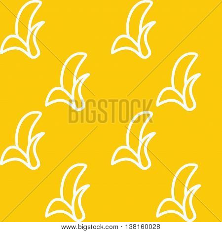 Banana pattern. Vector seamless pattern. Modern stylish texture. Repeating geometric background with banana.