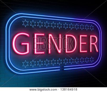 Gender Sign Concept.