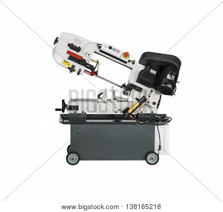 Metal Cutting Band Saw isolated on white background