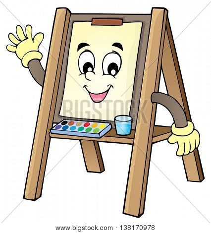 Easel theme image 1 - eps10 vector illustration.