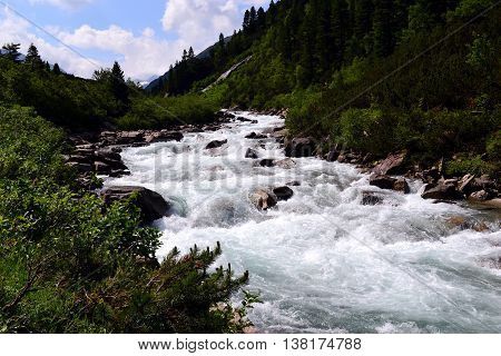 A beautiful scene of a Raging River in Austria!