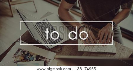 To Do Memo Organization Plan Reminder Target Concept
