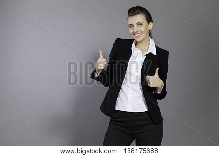 girl shows good class good people happy