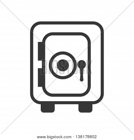 Money concept represented by strongbox icon. Isolated and flat illustration