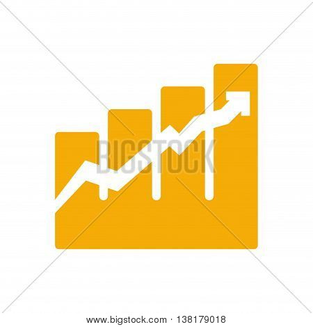 growth concept represented by arrow icon. Isolated and flat illustration