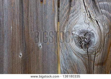 Background texture of a weathered grey wood fence.