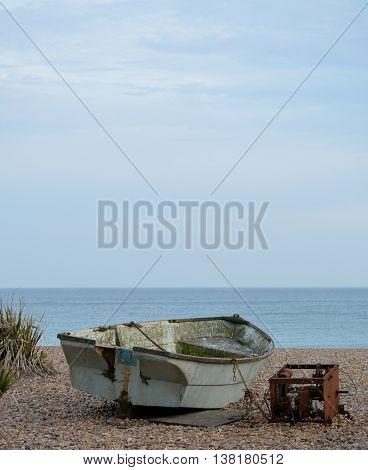Fishing Boat Quaint Seaside Scene in Brighton, England