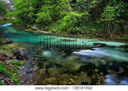 Soteska Vintgar In The River Radovna