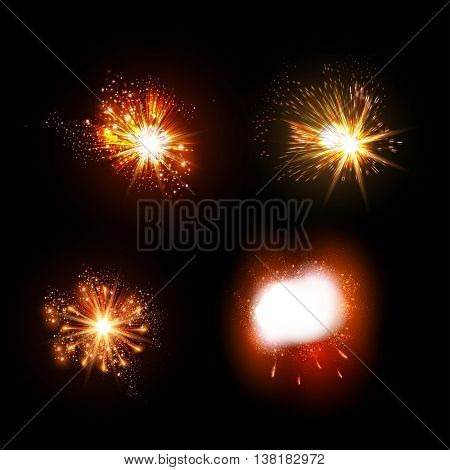 fireworks explosions collection effect explosions easy all editable