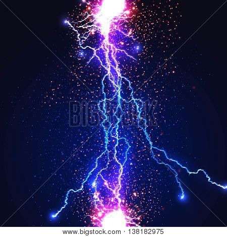 Lightning flash strike background easy all editable