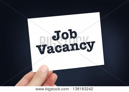 Job vacancy concept