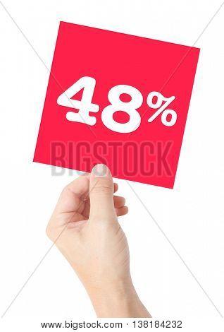 48 percent on white