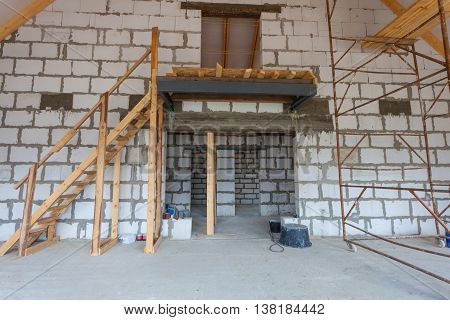 The apartment is under construction and renovation