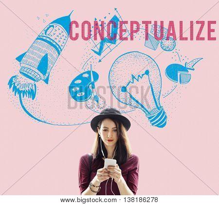 Conceptualize Ideas Creativity Imagination Light Bulb Concept