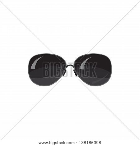 Black sunglasses icon in cartoon style on a white background