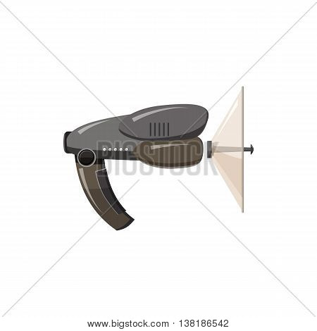 Spy listening device icon in cartoon style on a white background