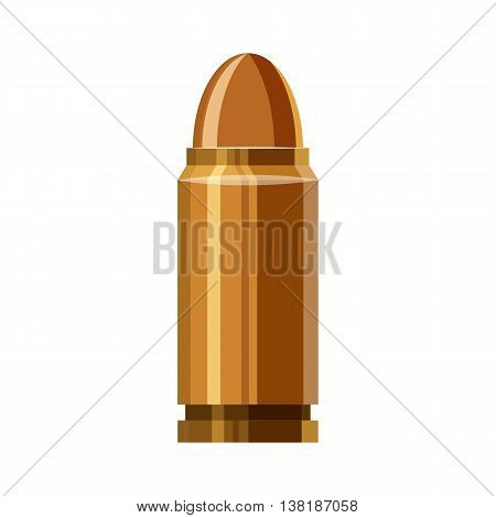 Bullet icon in cartoon style on a white background