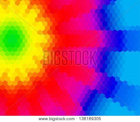 Rainbow Abstract Fantasy Mosaic Low Polygonal  Backrgound