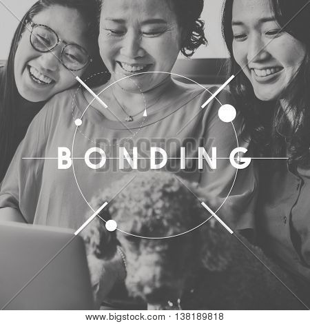 Bonding Cheerful Ethnic Family Friends Group Concept