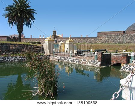 Castle With Moat In Fore Ground, Cape Town South Africa 03