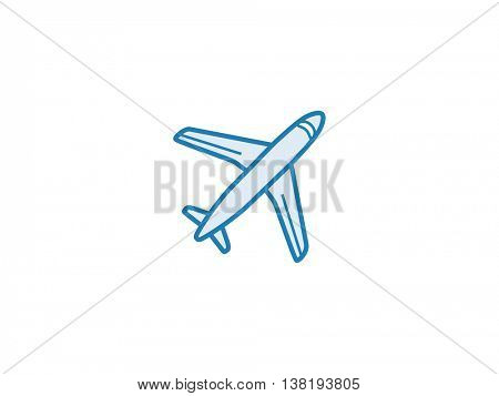 Plane aero cargo icon. Vector illustration