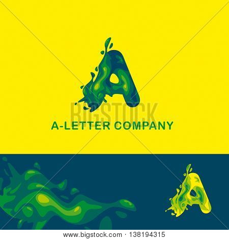 Creative logo for the company: liquid letter A