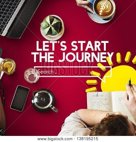 Journey Coffee Travel Wanderlust Concept