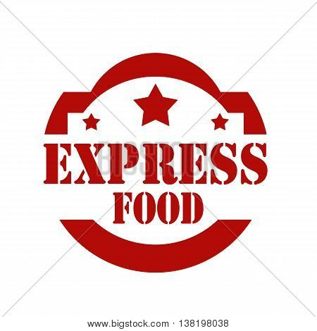 Red stamp with text Express Food,vector illustration